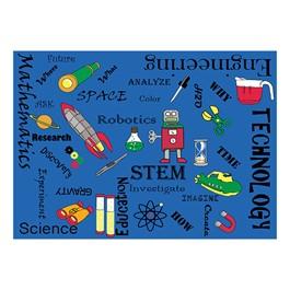 "STEM Concepts Classroom Rug (6\' W x 8\' 4\"" L)"