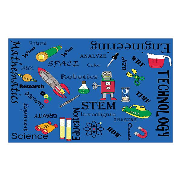 STEM Concepts Classroom Rug
