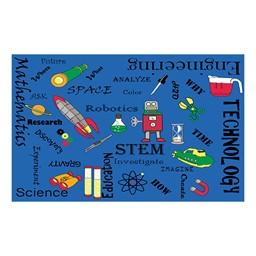 "STEM Concepts Classroom Rug - 7' 6"" W x 12'  L"