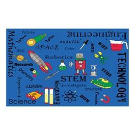 "STEM Concepts Classroom Rug (7\' 6\"" W x 12\' L)"