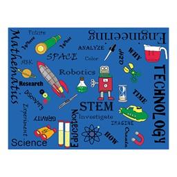 "STEM Concepts Classroom Rug - 10' 6"" W x 13' 2"" L"