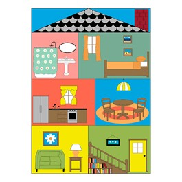 "Cozy Cottage Classroom Rug (6\' W x 8\' 4\"" L)"