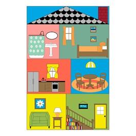 Cozy Cottage Classroom Rug (4\' W x 6\' L)