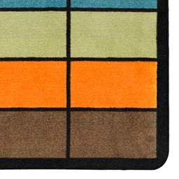 "Classroom Squares Seating Rug - Neutral (6' W x 8' 4"" L) - Detail"
