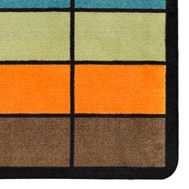 "Classroom Squares Seating Rug - Neutral (10\' 9"" W x 13\' 2\"" L) - Detail"