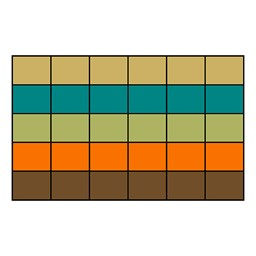 "Classroom Squares Seating Rug - Neutral (7' 6"" W x 12' L)"