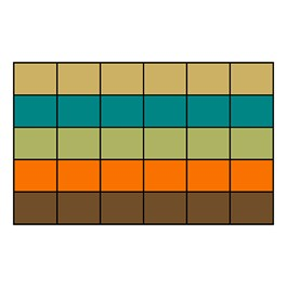 "Classroom Squares Seating Rug - Neutral (7\' 6"" W x 12\' L)"