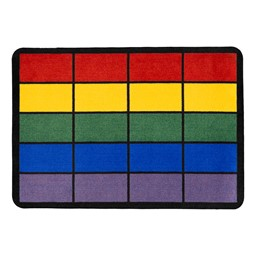 Classroom Squares Seating Rug - Bright