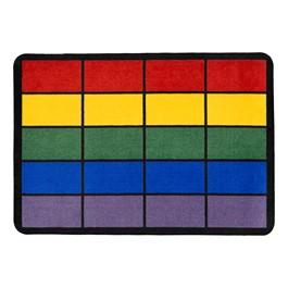 "Classroom Squares Seating Rug - Bright (6\' W x 8\' 4\"" L)"