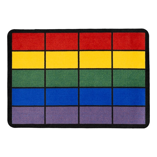 "Classroom Squares Seating Rug - Bright (6' W x 8' 4"" L)"