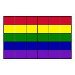"Classroom Squares Seating Rug - Bright (7' 6"" W x 12' L)"