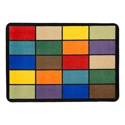 "Mosaic Squares Seating Rug (6' W x 8' 4"" L)"