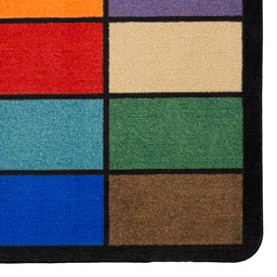 """Mosaic Squares Seating Rug (6' W x 8' 4"""" L) - Detail"""