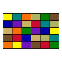"Mosaic Squares Seating Rug (7\' 6\"" W x 12\' L)"