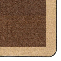 "Solid Classroom Rug w/ Color Block Border - Rectangle (10' 9"" W x 13' 2"" L) - Chocolate/Sand"