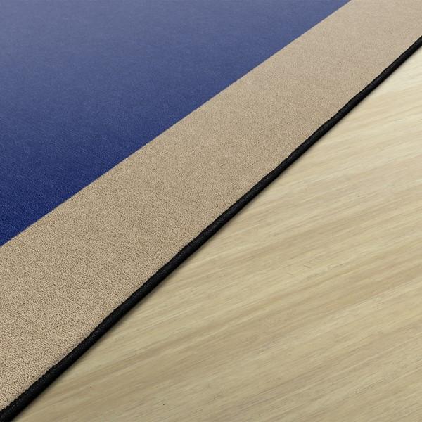 """Solid Classroom Rug w/ Color Block Border - Rectangle (7' 6"""" W x 12' L)"""