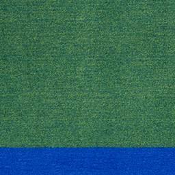 Solid Classroom Rug w/ Color Block Border - Round (6' Diameter) - Green/Blue