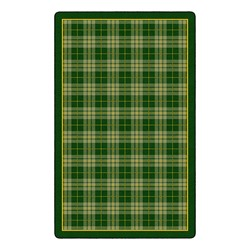 "Playful Plaid Classroom Rug (7' 6"" W x 12' L) - Green"