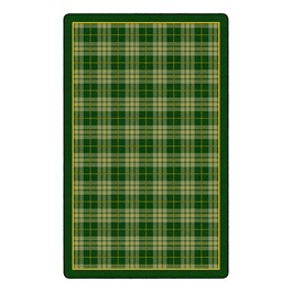 "Playful Plaid Classroom Rug (7\' 6"" W x 12\' L) - Green"