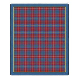 "Playful Plaid Classroom Rug (10\' 6\"" W x 13\' 2\"" L) - Red"