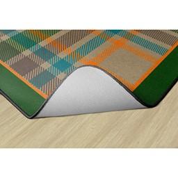 Tartan Plaid Classroom Rug - Backing