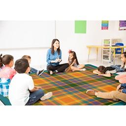 Tartan Plaid Classroom Rug