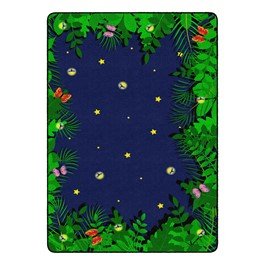 """Dragonfly Night Rug - Rectangle (5\' 10\"""" W x 8\' 4\"""" L)"""