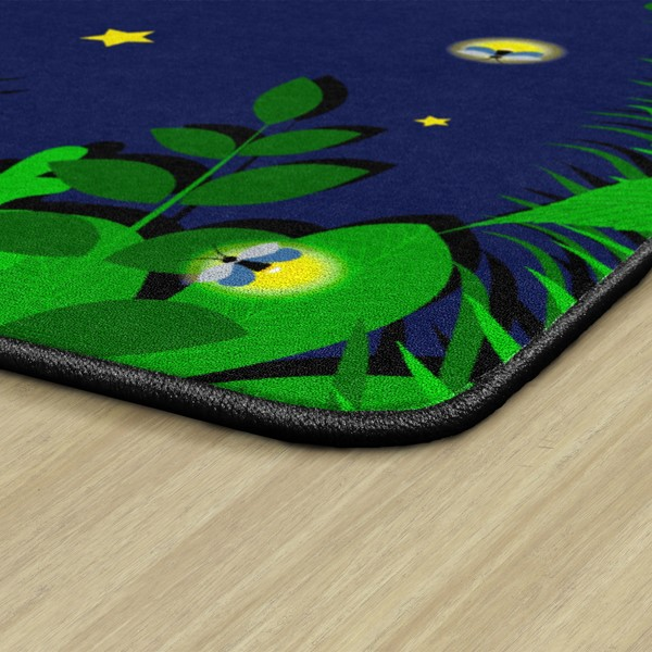 "Dragonfly Night Rug - Rectangle (5' 10"" W x 8' 4"" L) - Edge"