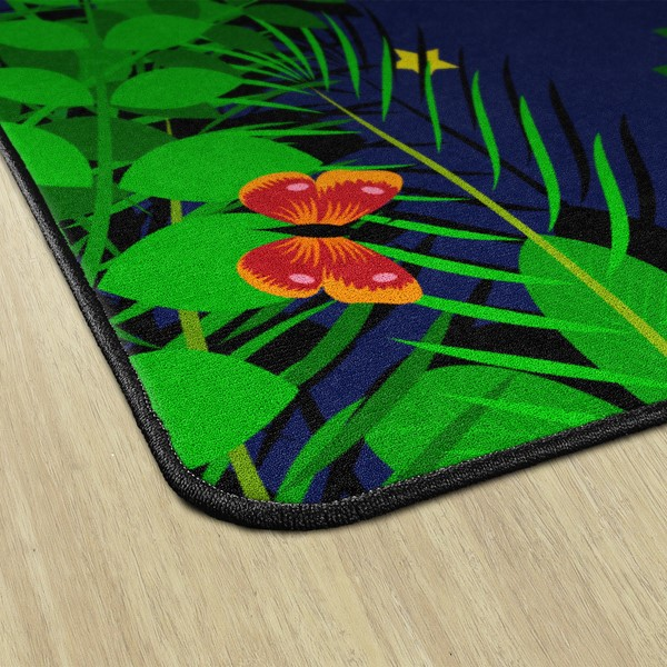 "Dragonfly Night Rug - Rectangle (5' 10"" W x 8' 4"" L)"