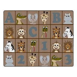 Natural ABC 123 Animal Fun Rug