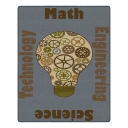 "Natural Gears Classroom Rug (10' 9"" W x 13' 2"" L)"