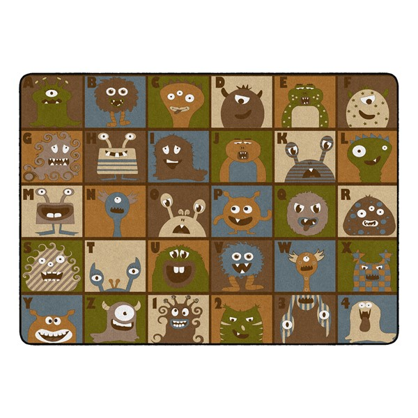 """Natural Monsters Seating Rug (6' W x 8' 4"""" L)"""