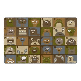 """Natural Monsters Seating Rug (7\' 6\"""" W x 12\' L)"""