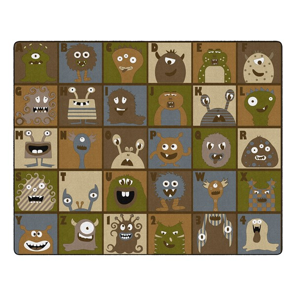 """Natural Monsters Seating Rug (10' 9"""" W x 13' 2"""" L)"""
