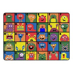 "Monster Seating Preschool Rug (6' W x 8' 4"" L)"