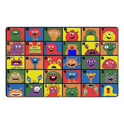 "Monster Seating Preschool Rug (7' 6"" W x 12' L)"