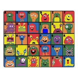 "Monster Seating Preschool Rug (10' 9"" W x 13' 2"" L)"