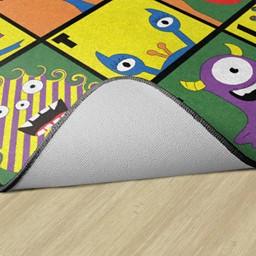 Monster Seating Preschool Rug - Backing