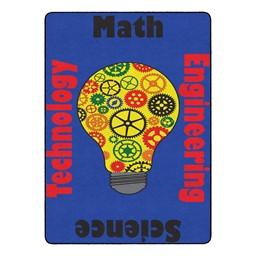 """Gears Classroom Rug (6' W x 8' 4"""" L)"""