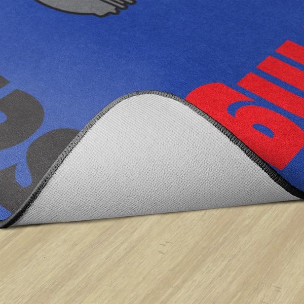 Gears Classroom Rug - Backing