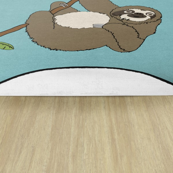 Sloth Nursery Rug - Backing