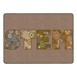 """Natural STEM Classroom Rug (6' W x 8' 4"""" L)"""