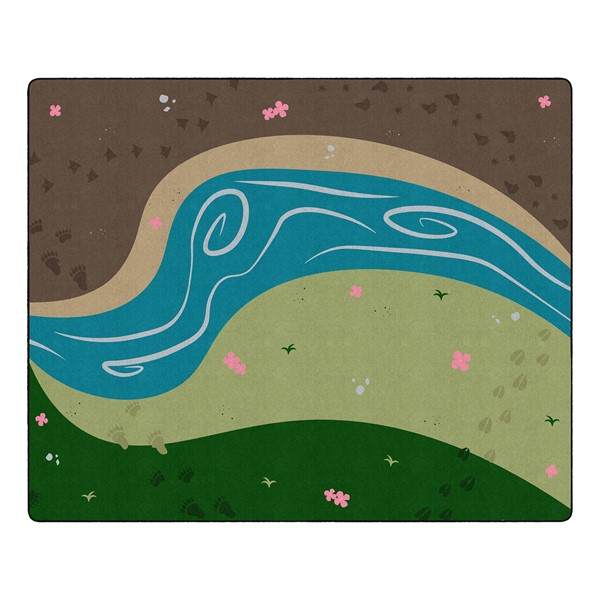 "Nature of Things Classroom Rug  (10' 9"" W x 13' 2"" L)"