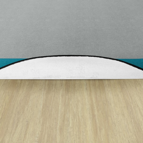 Solid Classroom Rug w/ Color Block Border - Round (6' Diameter)