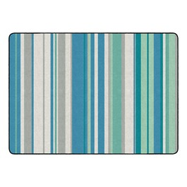 "Contemporary Color Striped Classroom Rug - Rectangle (6\' W x 8\' 4"" L)"