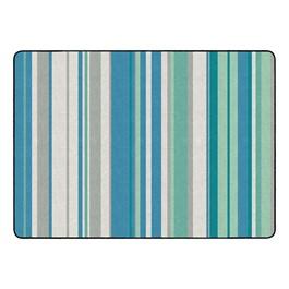 "Contemporary Color Striped Classroom Rug - Rectangle (6\' W x 8\' 4\"" L)"