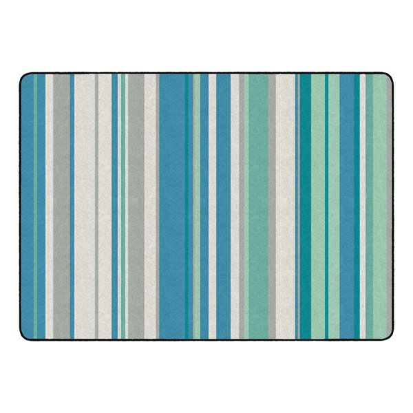 "Contemporary Color Striped Classroom Rug - Rectangle (6' W x 8' 4"" L)"
