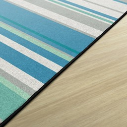 Contemporary Color Striped Classroom Rug - Rectangle - Edges