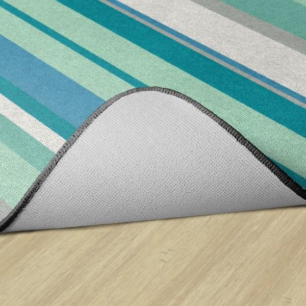 Contemporary Color Striped Classroom Rug - Rectangle