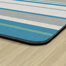Contemporary Color Striped Classroom Rug - Backing